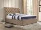 Кровать двуспальная 1,6 Империя (ткань светлый или темный мокко) кд 3