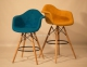 Кресло, стул полубарный Leon (Леон) Soft Шерсть (желтый, серый, зеленый, бирюза, синий) ом 3