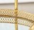 Стол сервировочный на колесиках Гастон металл золото h77см w40см ГП1015848 2