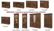 мебель для гостиной Тоскана Наборная система цвет орех 5