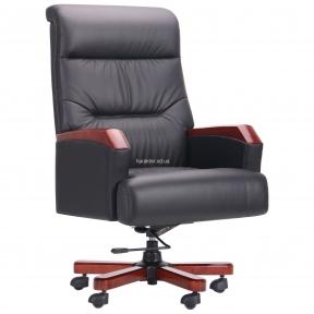 Кресло руководителя Ronald кожа Black и Brown