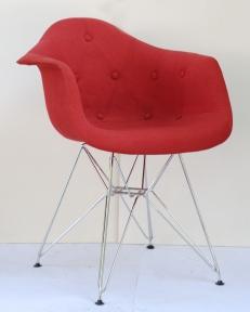 Кресло  Leon Soft Chrom ML Вискоза на металлических ножках (красный, коричневый)