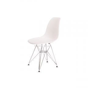Стул Eames dsr (ножки металл) белый (Тауэр, Прайз) са