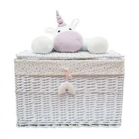Корзина для игрушек с крышкой Единорог квадрат 109543-5, XL 60*40*40 см