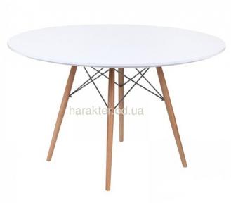 Стол обеденный Тауэр Вуд, дерево, бук, диаметр 100 см, диаметр 120 см цвет белый