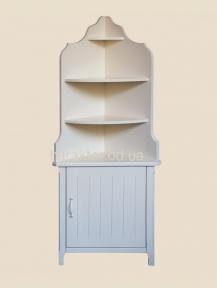 Стеллаж, этажерка, полка угловая в стиле Прованс РБК ПР-07 из ольхи или ясеня покраска в любой цвет