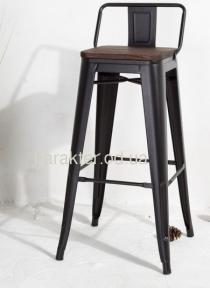 Стул барный 75 см или полубарный Толикс 65 см, металл черный, штабелируемый