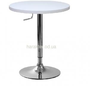Стол барный Али-R диаметр 60 см, или Али-S 60*60 см, регулируемый, столешница белая