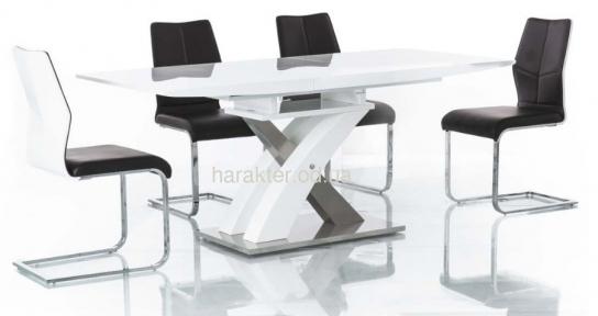 стол Raul прямоугольный белый лак сл