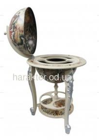 Глобус бар напольный белый на трех ножках 45045W-M гп