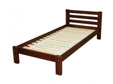 Ліжко односпальне Л-2107, кровать деревянная из ели Л-107 односпальная