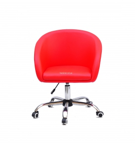 Кресло мягкое Энди, на колесах или блине, основа хром, экокожа