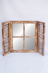 Зеркало Ставни new, 60см* 70см эм 71112 цвет натуральный, синий