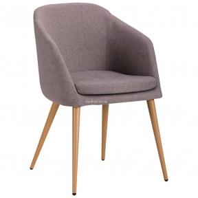 Кресло Франческо ножки металл цвет бук, ткань серый, капучино