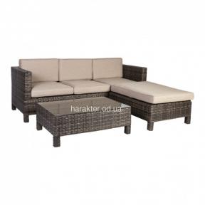 Комплект Queens (угловой диван+кофейный столик со стеклом)
