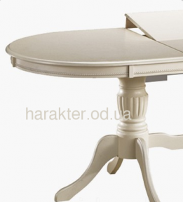Стол обеденный Анжелика V 1060(+330)*1060*750 (крем, айвори лайт) КД