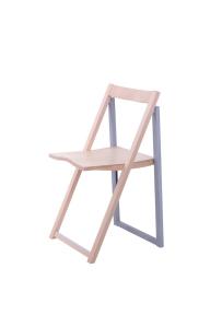 Складной стул Силла SLIM деревянный, итальянский дизайн BOOK WOOD WHITE