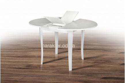 Стол обеденный Дукат каркас клен, столешница шпон цвет белый или темный орех (ультра мм)