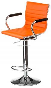 Барний стілець Bar, стул барный Bar, чёрный, оранжевый