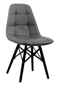 Стул Alex XXL (Алекс) ЭкоКожа (цвет черный, серый, бежевый, желтый) ножки деревянные черные ом