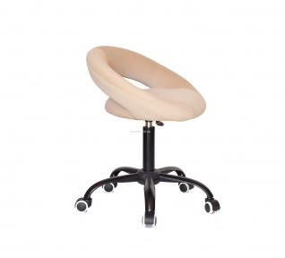 Стул офисный Holy основа на колесах черный, сидушка кожзам или бархат