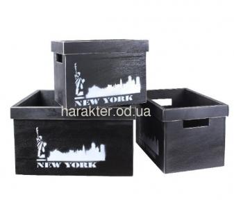 Декоративная коробка из дерева Нью-Йорк ВВ SS003249