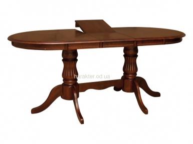 стол обеденный Анжелика V 1500 раскладной деревянный, цвет каштан КД