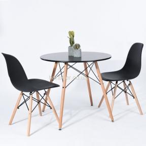 Стол обеденный Тауэр Вуд, дерево, бук, диаметр 100 см цвет черный