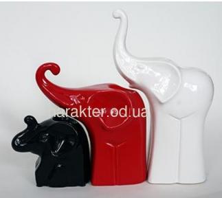 Декор ETERNA свічники Слони 2008-32 білий,  2009-22 червоний , 2010-13,5  эк