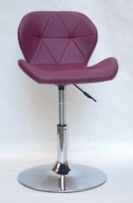 Стул INVAR (Инвар) CH-base, хром основание блин,  кожзам белый, черный, серый, пурпурный, бежевый, офисный
