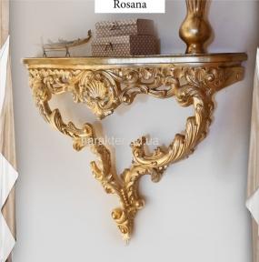 Консоль Росана настінна (біле, золото, срібло)