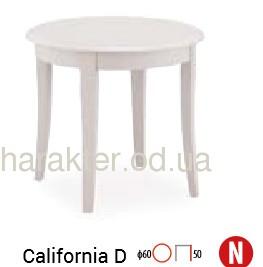 Стол журнальный деревянный California D белый сл