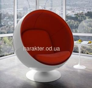 Кресло Ball chair красный, черный са