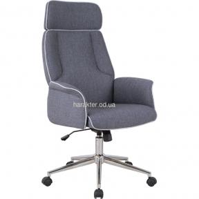 Кресло Madison хром, ткань серый, песочный амф