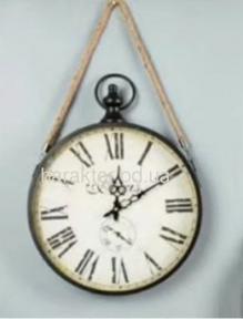 Годинник Круг з канатом Чорний 3557-9 Black фд
