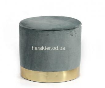 Пуф Голд, мягкий, ткань, цвет серый мдс