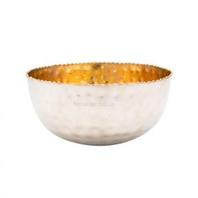 Блюдо глубокое чеканка золотое, 18 см КС108242 или 16 см КС108243