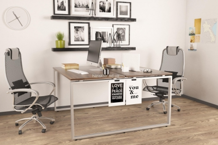 Сдвоенный стильный стол на два рабочих места Q140