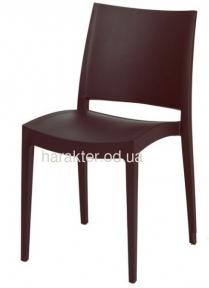 Пластиковый стул Спектрум, цвет венге, белый, красный
