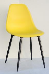 Стул NIK (Ник) BK METAL пластик (цвет желтый, бежевый, красный, зеленый, серый и другие цвета) ножки металл черный