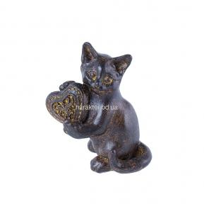 Декор фигурка Кошечка с сердечком 8 см КС103303, 10 см КС103304