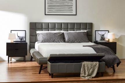 Кровать 1,6 Наоми (экокожа графит) кд