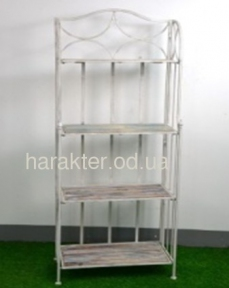 Етажертка складна 4 полички  метал+дерево HY311 фд