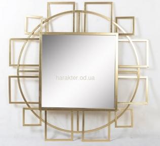 Дзеркало Арт-деко Коло, скло і золотий метал ГП25020, 106 см