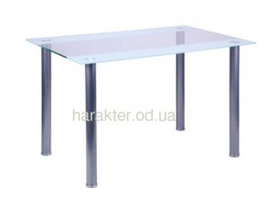 Стол DT-58 1200*800*750 База алюм/Стекло прозрачное
