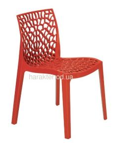 Дизайнерский стул Gruvyer (Грувер) (Crystal-OM) из полипропилена, цвет разный, для кафе, бара, дома кн