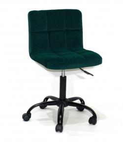Стул офисный Arno CH(ВК)-Office на колесах, основа хром или черный, бархат и кожзам