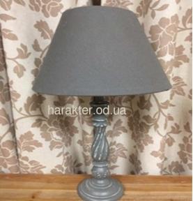 Настольная лампа в классическом стиле, торшер классический серая/белая ФД 11-241