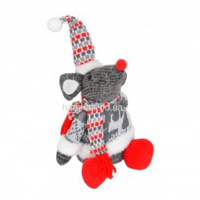 Новогодний декор - плюш Мышка NG602, Дед Мороз, Снеговик NG607, NG606