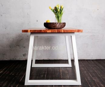 Стол деревянный прямоугольный ЦЕ TRAPEZE ELM/ ЦЕ TRAPEZ WHITE